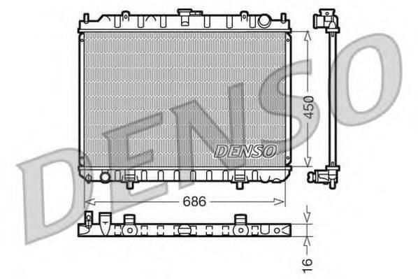 DENSO DRM46023 Радиатор, охлаждение двигателя