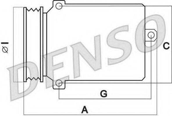 DENSO DCP02010 Компрессор, кондиционер