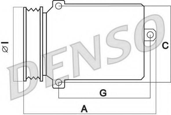 DENSO DCP02011 Компрессор, кондиционер