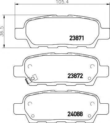 MINTEX MDB2261 Комплект тормозных колодок, дисковый тормоз