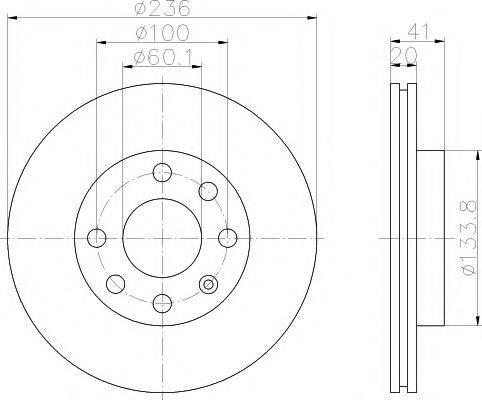 MINTEX MDC322 Тормозной диск