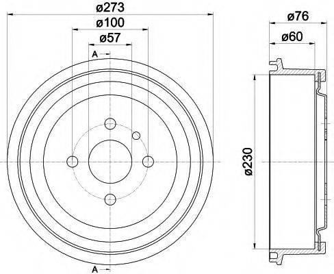 MINTEX MBD003 Тормозной барабан