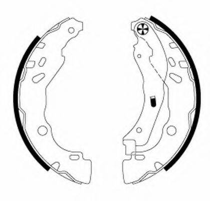 MINTEX MFR691 Комплект тормозных колодок