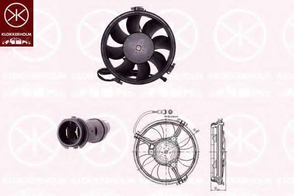 KLOKKERHOLM 9539307504 Вентилятор, охлаждение двигателя