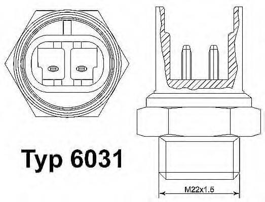 WAHLER 6031100D Термовыключатель, вентилятор радиатора