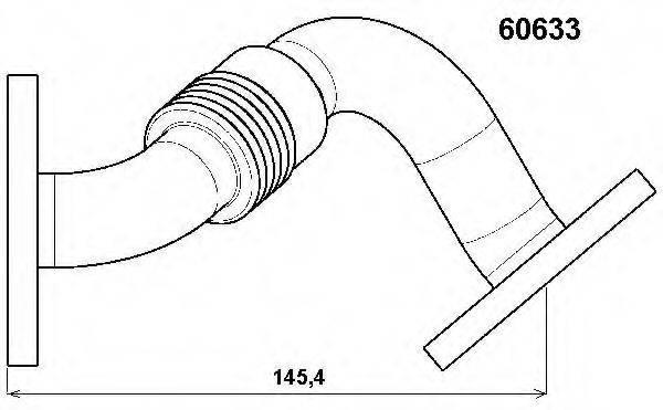 WAHLER 60633D Трубка, клапан возврата ОГ