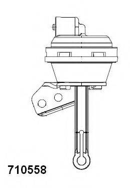WAHLER 710558 Клапан вакуумного управления, рециркуляция ОГ