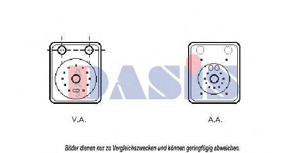 AKS DASIS 040024N масляный радиатор, двигательное масло