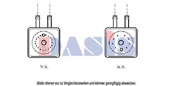 AKS DASIS 046120N масляный радиатор, двигательное масло