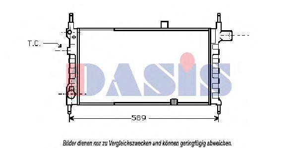AKS DASIS 150310N Радиатор, охлаждение двигателя