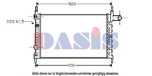 AKS DASIS 150370N Радиатор, охлаждение двигателя