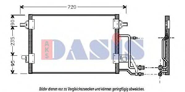 AKS DASIS 482290N Конденсатор, кондиционер