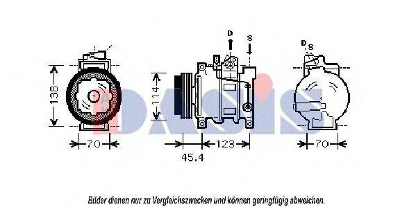 AKS DASIS 850219N Компрессор, кондиционер
