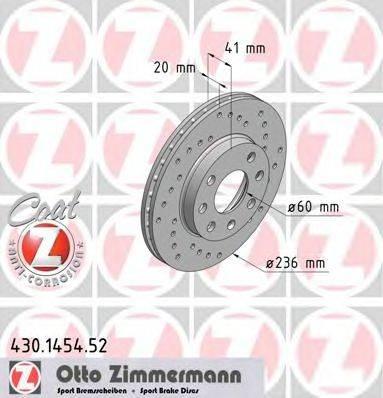 ZIMMERMANN 430145452 Тормозной диск