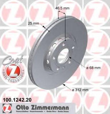 ZIMMERMANN 100124220 Тормозной диск