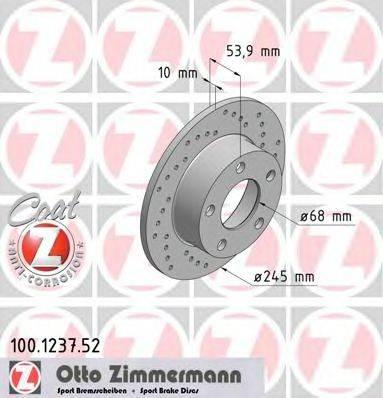 ZIMMERMANN 100123752 Тормозной диск