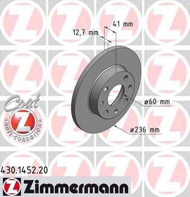 ZIMMERMANN 430145220 Тормозной диск