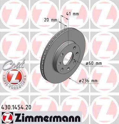 ZIMMERMANN 430145420 Тормозной диск
