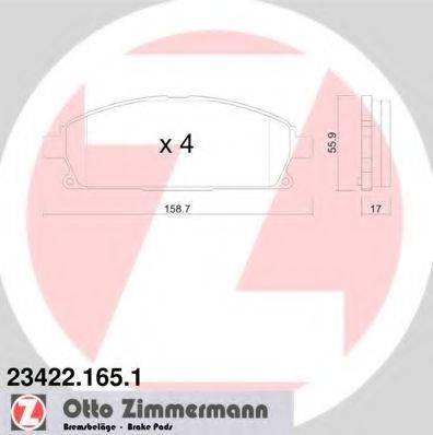 ZIMMERMANN 234221651 Комплект тормозных колодок, дисковый тормоз