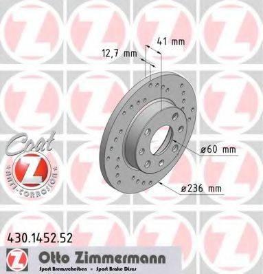ZIMMERMANN 430145252 Тормозной диск