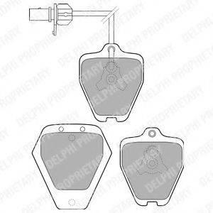 DELPHI LP1760 Комплект тормозных колодок, дисковый тормоз