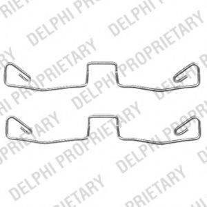 DELPHI LX0448 Комплектующие, колодки дискового тормоза