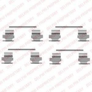 DELPHI LX0462 Комплектующие, колодки дискового тормоза
