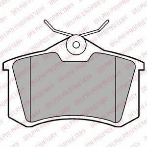 DELPHI LP2254 Комплект тормозных колодок, дисковый тормоз
