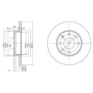 DELPHI BG2148 Тормозной диск