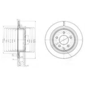 DELPHI BG3765 Тормозной диск