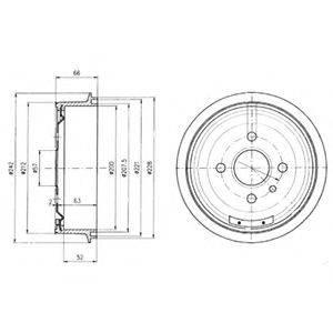 DELPHI BF102 Тормозной барабан