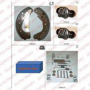 DELPHI 744 Комплект тормозных колодок