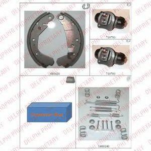 DELPHI 745 Комплект тормозных колодок
