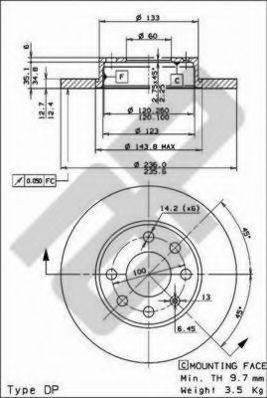 METZGER 10170 Тормозной диск