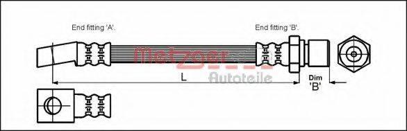 METZGER 4111947 Тормозной шланг