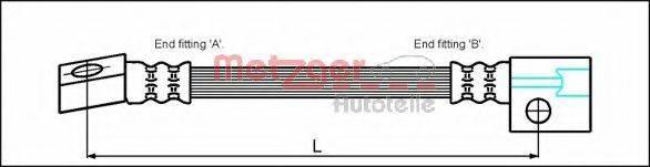 METZGER 4112810 Тормозной шланг