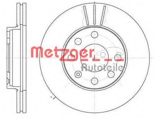 METZGER 606110 Тормозной диск