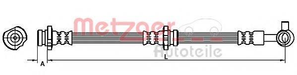 METZGER 4111227 Тормозной шланг