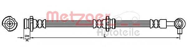 METZGER 4111228 Тормозной шланг