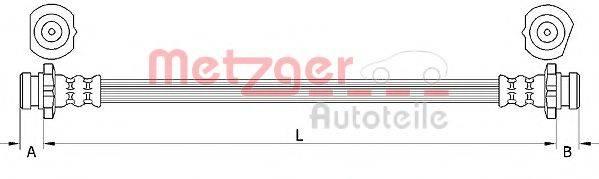 METZGER 4111231 Тормозной шланг