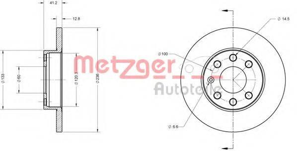METZGER 6110014 Тормозной диск