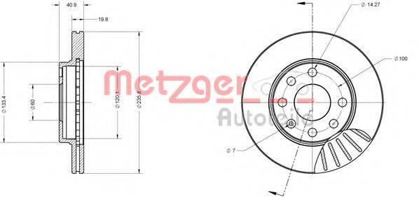 METZGER 6110038 Тормозной диск