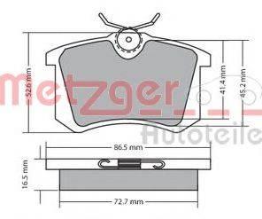 METZGER 1170060 Комплект тормозных колодок, дисковый тормоз