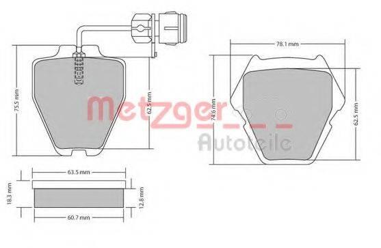 METZGER 1170231 Комплект тормозных колодок, дисковый тормоз