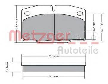 METZGER 1170234 Комплект тормозных колодок, дисковый тормоз