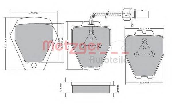 METZGER 1170478 Комплект тормозных колодок, дисковый тормоз