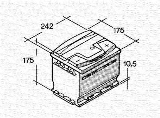 MAGNETI MARELLI 067129040003 Стартерная аккумуляторная батарея; Стартерная аккумуляторная батарея