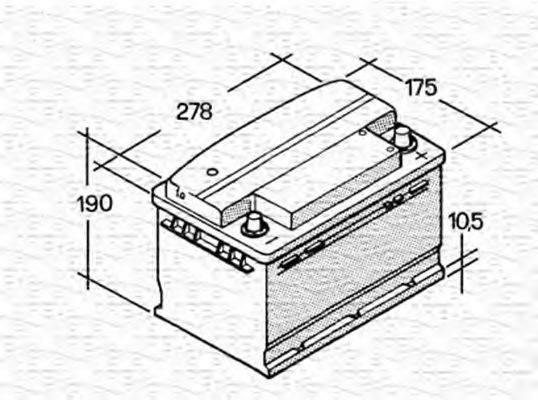 MAGNETI MARELLI 067147610003 Стартерная аккумуляторная батарея