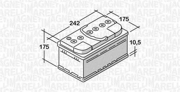MAGNETI MARELLI 068050051030 Стартерная аккумуляторная батарея; Стартерная аккумуляторная батарея