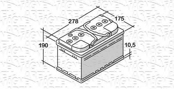 MAGNETI MARELLI 068072072010 Стартерная аккумуляторная батарея; Стартерная аккумуляторная батарея